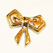 Декоративный золотой бантик BG-05
