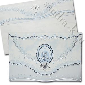 Голубое свадебное приглашение 150086