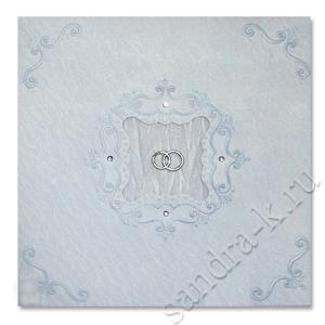 Свадебное приглашение с кольцами 170034-ok