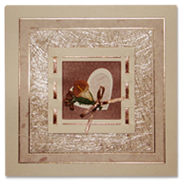 Подарочная открытка с сизалью 108297