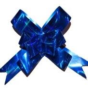 Бант-бабочка 18 мм голографический синий