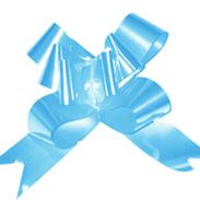 Бант-бабочка 18 мм перламутровый голубой