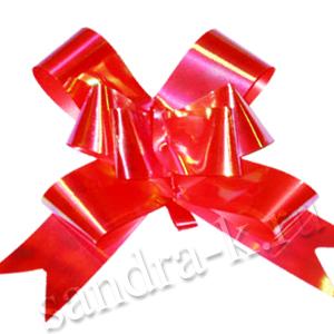 Бант-бабочка 30 мм перламутровый красный