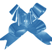 Бант-бабочка 12 мм перламутровый синий