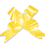 Бант-бабочка 12 мм перламутровый желтый