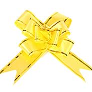 Бант-бабочка 18 мм с золотой полосой желтый