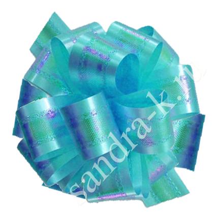Бант-шар голубой перламутровый 50П