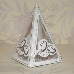 Бонбоньерка-пирамида с кольцами B017w