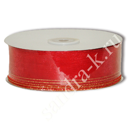 Лента-трансформер 3,8см/45м органза красная