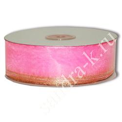 Лента-трансформер 3,8см/45м органза розовая