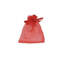 Мешочки из органзы 9-12 см красные