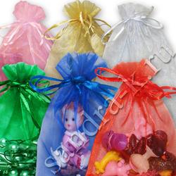 Мешочки из органзы 18-23 см однотонные 6 цветов МИКС