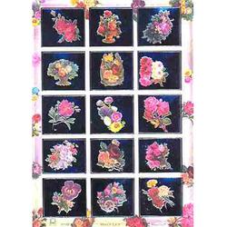 Наклейка цветы металл. 47169