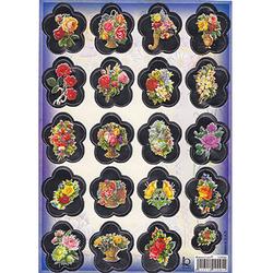 Наклейка цветы металл. 510094