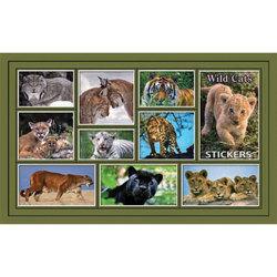 Наклейка дикие кошки 187-06