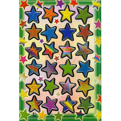 Наклейка звезды металл. 47183