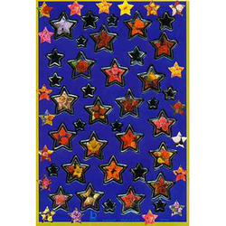 Наклейка звезды металл. 47184