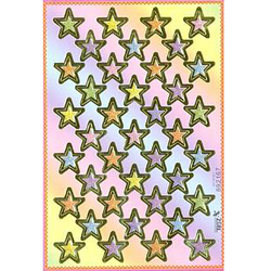 Наклейка звезды металл. 692167