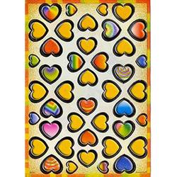 Наклейка сердечки металл. 38703