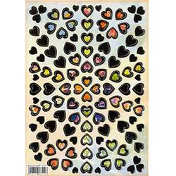 Наклейка сердечки металл. 47011
