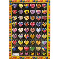 Наклейка сердечки металл. 47179