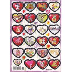 Наклейка сердечки металл. 510105