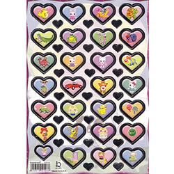 Наклейка сердечки металл. 510108