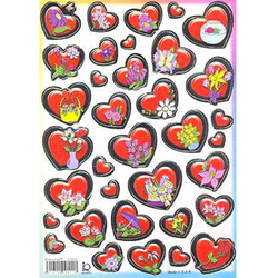 Наклейка сердечки металл. 510111