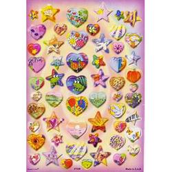 Наклейка сердца и звезды 47248