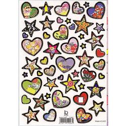 Наклейка сердца и звезды металл. 510098