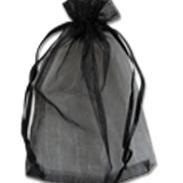 Мешочки из органзы 26-38 см черные