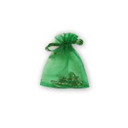 Мешочки из органзы 7-9 см зеленые