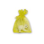 Мешочки из органзы 7-9 см желтые