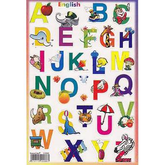 Наклейка английский алфавит 510088
