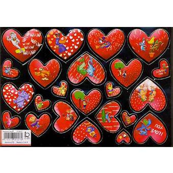 Наклейка сердечки металл. 510027