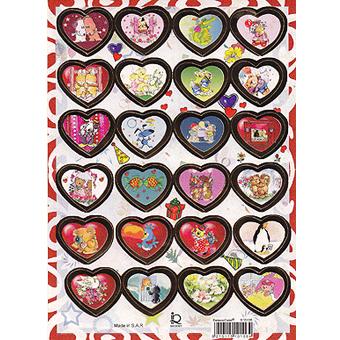 Наклейка сердечки металл. 510106