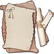 Свиток с ободком и визиткой 119153