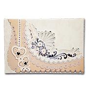 Персиковое приглашение на свадьбу 140063-т1