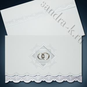 Приглашение на свадьбу с кольцами 140098