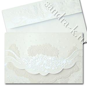 Белоснежное свадебное приглашение 150091