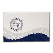 Синее приглашение на свадьбу с текстом 150130-т2