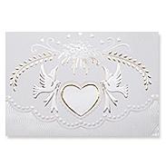 Свадебное приглашение TBZ с голубями и сердечком 114320