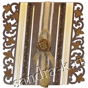 Дизайнерская открытка ручной работы с розой 108963