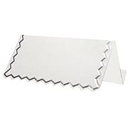 Банкетная карточка 20115 белая