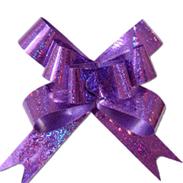 Бант-бабочка фиолетовый 49 мм голографический