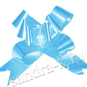 Бант-бабочка 30 мм перламутровый голубой