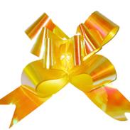 Бант-бабочка 18 мм перламутровый оранжевый