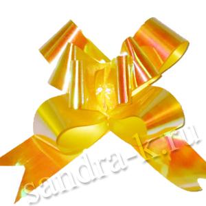 Бант-бабочка 12 мм перламутровый оранжевый