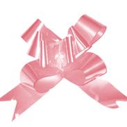 Бант-бабочка 18 мм перламутровый розовый