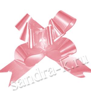 Бант-бабочка 15 мм перламутровый розовый